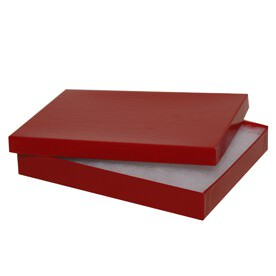 5 5/8 x 7 1/8 x 1 Red Jewelry Box
