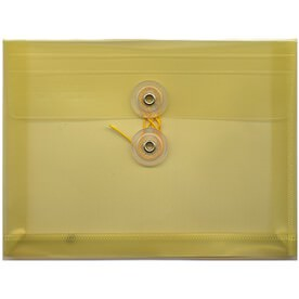 Yellow Index Plastic Envelopes - 5 1/2 x 7 1/2