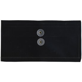 Black #10 Business Plastic Envelopes - 5 1/4 x 10