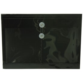 Black Legal Booklet Plastic Envelopes - 10.5x14.5