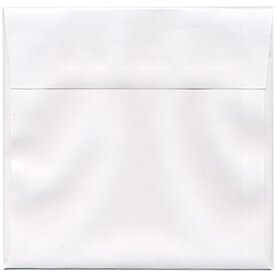 White 6 1/2 x 6 1/2 Square Envelopes