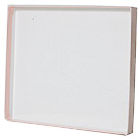 6 1/2 x 7 1/2 x 5/8 Pink Box with Clear Top