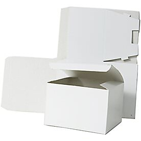9 x 4 1/2 x 4 1/2 White Open Top Gift Box