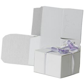 3 x 3 x 2 White Open Top Gift Box