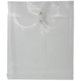Clear Letter Open End Plastic Envelopes-9.8x11.75