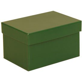 4 x 6 x 3 3/4 Green Matte Box with Lid