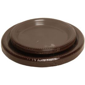 Brown Plastic Plates