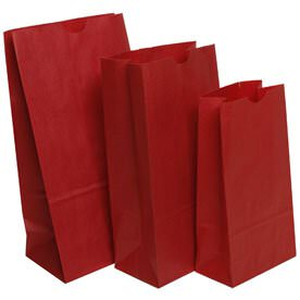 Red Paper Lunchbags
