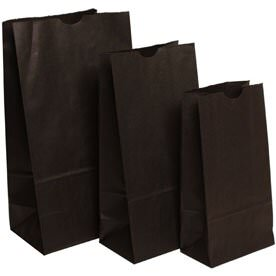 Black Paper Lunchbags