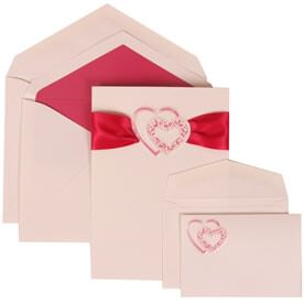 Pink Heart Ribbon Set