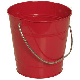 Red Metal Buckets
