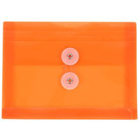 Orange Index Plastic Envelopes - 5 1/2 x 7 1/2