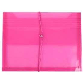 Pink Elastic Closure Envelopes