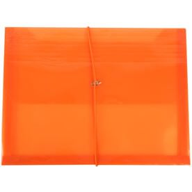 Orange Plastic Envelopes with Elastic Closure