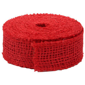 Red Burlap Ribbon