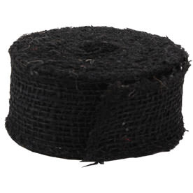 Black Burlap Ribbon