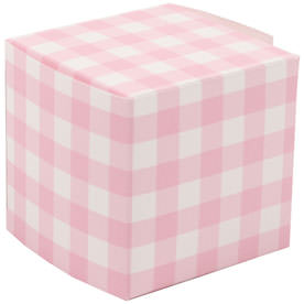 2 x 2 x 2 Pink Gingham Glossy Gift Box