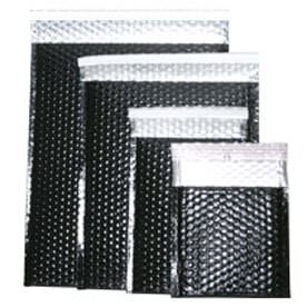 Black Metallic Peel & Seal Padded Mailers