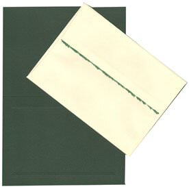 Green Deckle Edge A7 Foldover Sets