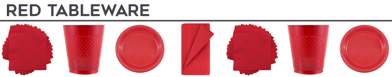 Red Disposable Tableware