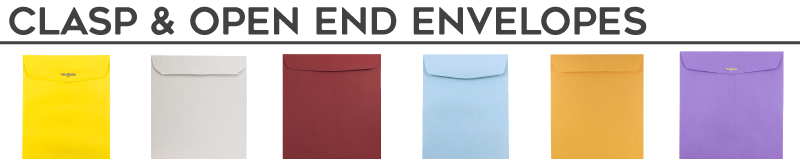 Clasp & Open End Envelopes