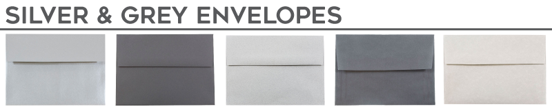 Silver & Grey Envelopes