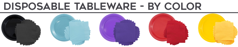Disposable Tableware - By Color