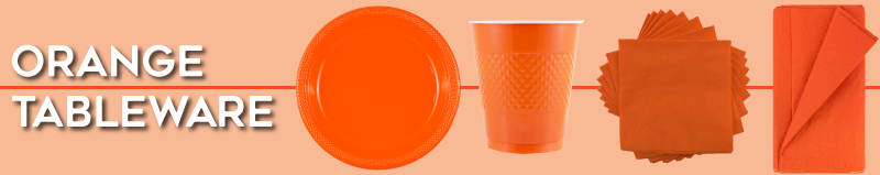 Orange Disposable Tableware