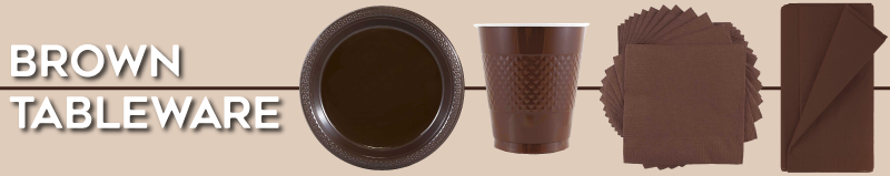 Brown Disposable Tableware