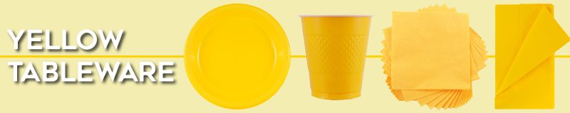 Yellow Disposable Tableware