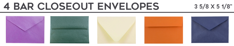 4 Bar (3 5/8 x 5 1/8) Closeout Envelopes