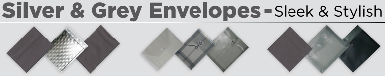 Silver & Grey Envelopes - By Size