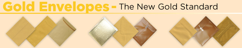 Gold Envelopes - By Size