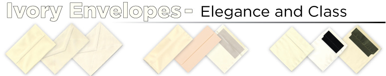 Ivory Envelopes - By Size