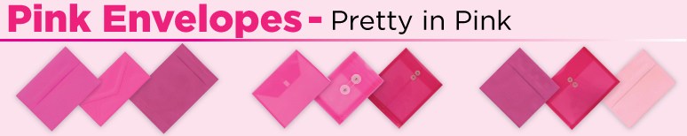 Pink Envelopes - By Size