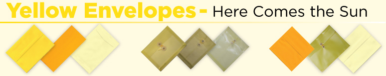 Yellow Envelopes - By Size