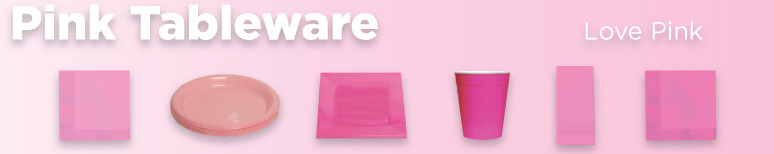 Pink Disposable Tableware