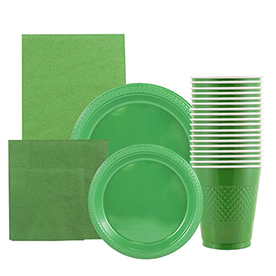 Green Disposable Tableware