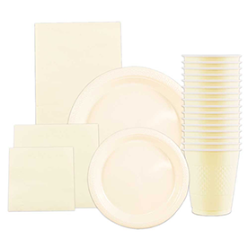 Ivory Disposable Tableware
