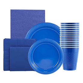 Blue Disposable Tableware