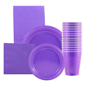 Purple Disposable Tableware