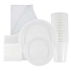 White Disposable Tableware