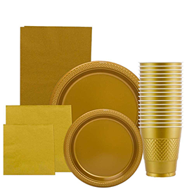 Gold Disposable Tableware