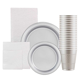 Silver Disposable Tableware