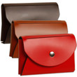 Leather Card Case with Round Flap