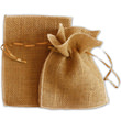 Recycled Natural Burlap Pouches - 1