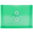 Green Index Plastic Envelopes - 5 1/2 x 7 1/2 - 1