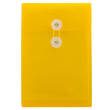Yellow 6 1/4 x 9 1/4 Plastic Envelopes - 1