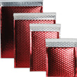 Red Metallic Bubble Mailers-Self Adhesive Closure