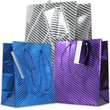 Diagonal Pinstripe Shopping Bags